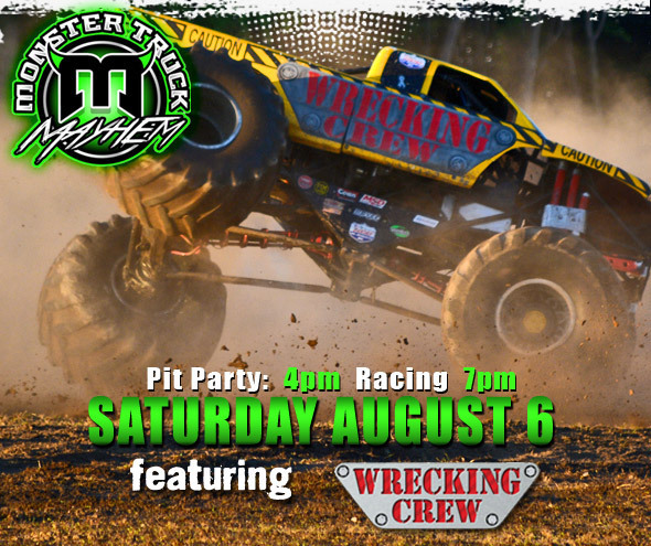 Monster Mayhem Saturday, August 6th!