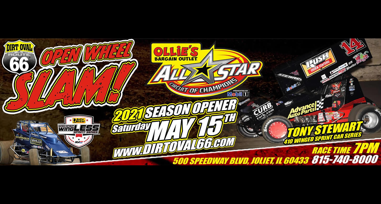 Open Wheel Slam. Tony Stewart's 410 Winged All Star Sprints & WingLess Sprints